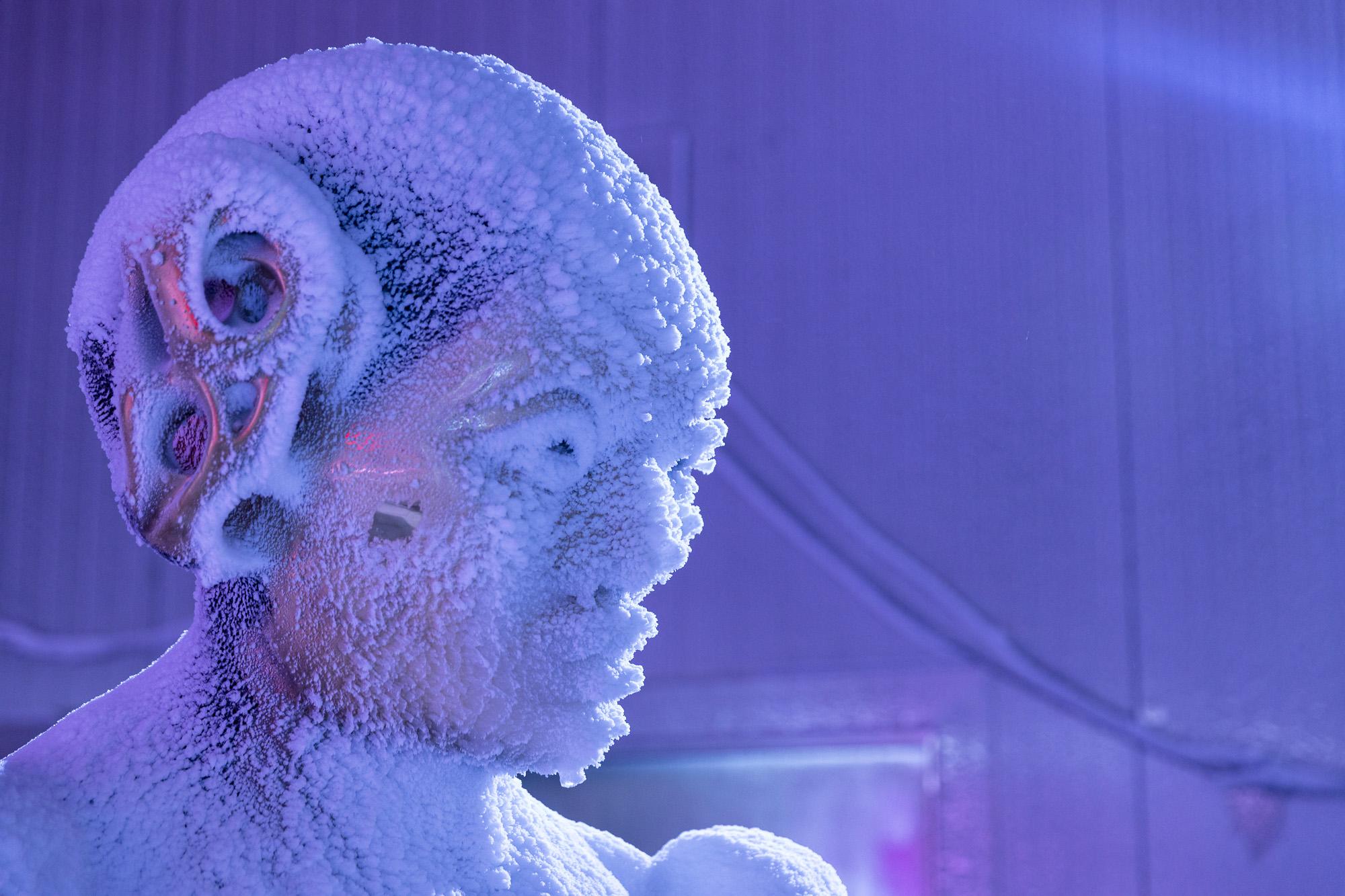 Sculpture at Transart 2021 Terra X cube