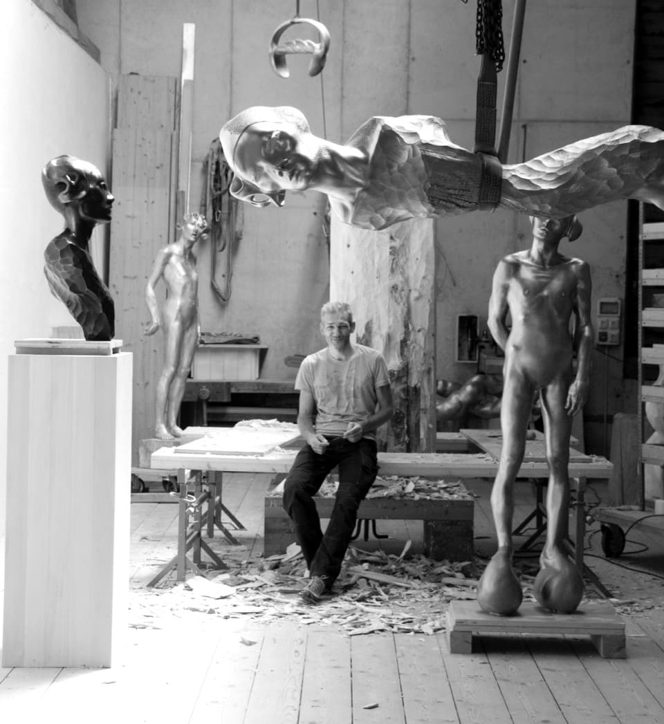 atelier with Peter Senoner and his work